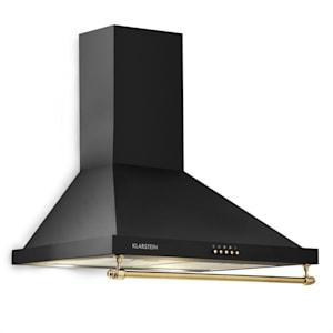 Klarstein Montblanc afzuigkap 610m³/h 165W 2x1,5W LED railing zwart
