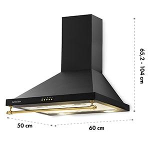 Montblanc afzuigkap 610m³/h 165W 2x1,5W LED railing zwart