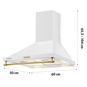 Montblanc, digestor, 610 m³/h, 165W, 2x1,5W LED, závesná tyč, biely
