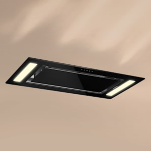 Remy stropna napa, ugradbena, 90 cm EEK A 620 m³ / h touch LED staklo