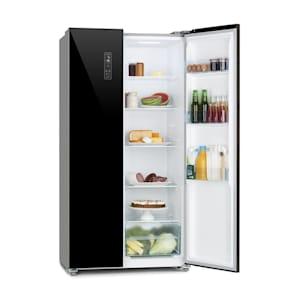 Combiné réfrigérateur-congélateur Grand Host L Réfrigérateur-congélateur | Side-by-Side | Portes en verre noir | Total-No-Frost | Display Control | LED | Volume : 442 litres | Faible profondeur