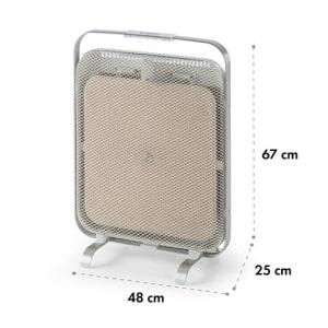 HeatPal Marble Radiatore a Infrarossi 1300 W Accumulatore Termico Marmo Alluminio