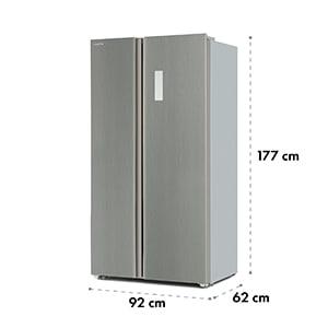 Grand Host A Combiné réfrigérateur congélateur modèle de base 474L Argent