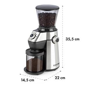 Triest Kaffeemühle Kegelmahlwerk 150W 300g 15 Mahlgrade Edelstahl