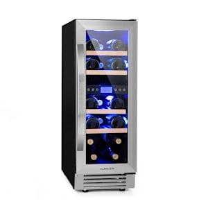 Vinovilla 17 Duo cave à vin encastrable | 53l | 17 bouteilles | Design slim 30cm | porte vitrée | 4 clayettes en bois de hêtre | 2 zones de refroidissement | Anti-Vibration | Panneau de commande tactile | CEE G | autoportante ou encastrée sous le comptoir