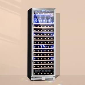 Vinovilla Grande Nevera para vinos de gran interior 425l 165 botellas 3 colores Puerta de cristal