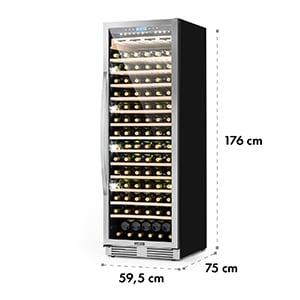 VINOVILLA GRANDE, vinotecă cu volum mare, frigider, 425 l, 165 sticle., 3 led-uri de culoare, ușă din sticlă