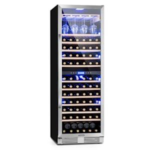 Vinovilla Grande 165 Frigorífico de vinho Duo incorporado de duas zonas | 425 litros | 165 garrafas de vinho | 12 prateleiras de madeira de faia | prateleira de vidro de vinho | anti-vibração