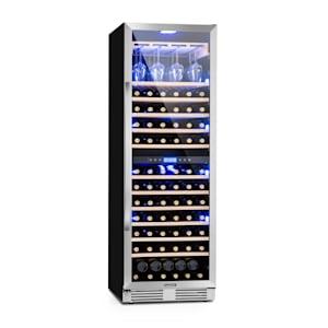 Vinovilla Grande Duo Large Capacity Wine Refrigerator 425l 165 Bottles 3-Colour Glass