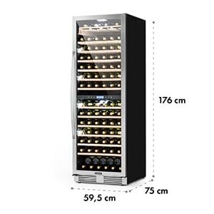 Vinovilla Grande Duo nagy kapacitású borhűtő, 425 l, 165 palack, 3 színű LED, üvegajtó