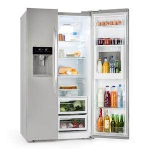 Grand Host XXL Kühlschrank 550 Liter Eis- und Wasserspender A+ silber
