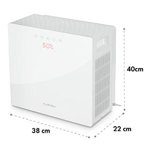 PurePal luchtwasser 2-in-1 luchtreiniger luchtbevochtiger 15W touch wit
