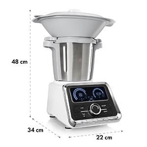 GrandPrix kuhinjski robot, 500W/1000W 2,5l, posoda za mešenja inox jeklo, bele barve