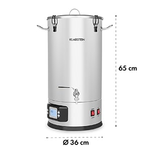 Maischfest Mash Kettle Mash Tank 5 Pieces 1500/3000W 25l LCD Touch Stainless Steel