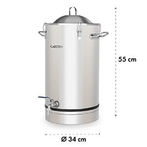Maischfest Fermenting Kettle 25 Litre Fermentation Tube 304 Stainless Steel