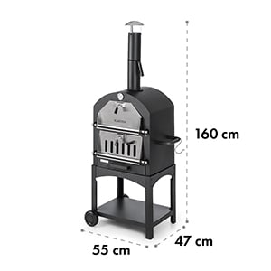 Pizzaiolo Perfect Pizza Oven 30.5 x 30.5cm Real Stone 1.2mm Steel Mobile