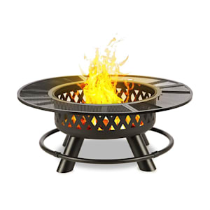 Rosario 3-in-1 Fire Bowl Ø120cm | 70cm Grill | Table Top Steel