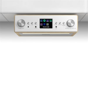 """Connect Soundchef Substructure Kitchen Radio Internet DAB+ FM 2x3"""" Speakers beech"""