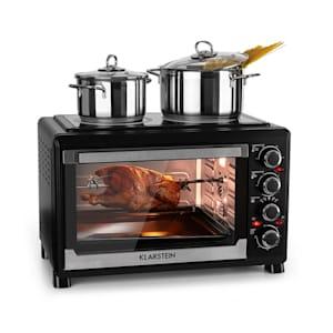 Masterchef mini sütő, 60 perces időzítő, 38 liter, infravörös főzőlap, fekete