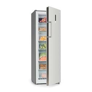 Iceblokk Hybrid Gefrierschrank Kühlschrank 227 Liter A+ Edelstahl-Optik
