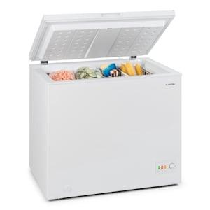 Iceblokk 200, truhlicová mraznička, mraziaci box, A++, 200 litrov, 2 závesné koše, kolieska, biela