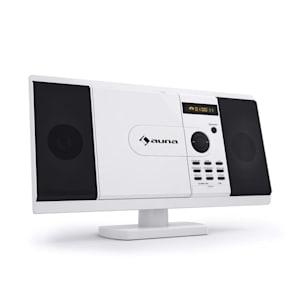 MCD-82 Lettore DVD Impianto Stereo USB SD bianco