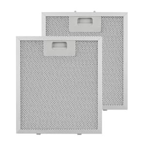 Set 2 filtres à graisse de rechange pour hotte 23 x 26 cm aluminium