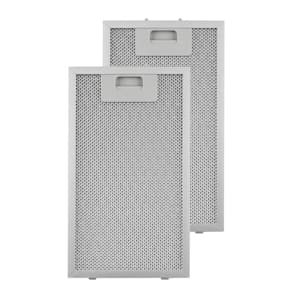 Aluminium Grease Filter 18.5 x 31.8 cm Replacement Filter 2 Pieces