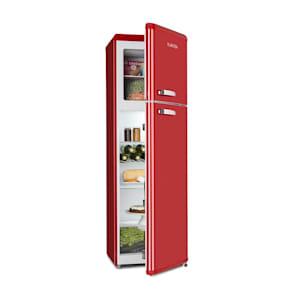 Klarstein Audrey Retro Fridge-Freezer Combination 194/56 Liter A++ red