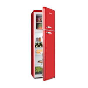 Audrey Retro retró kombinált hűtőszekrény fagyasztóval, 194 / 56 liter, A++, piros