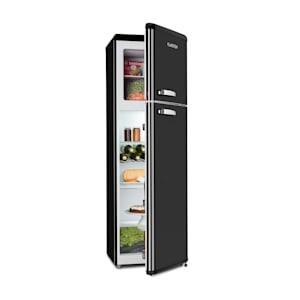 Audrey Retro, retró kombinált hűtőszekrény fagyasztóval, 194 / 56 liter, A++, fekete