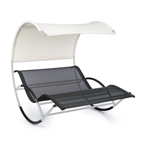The Big Easy Rocking Couch Silver, Weatherproof 350kg max. UV protection