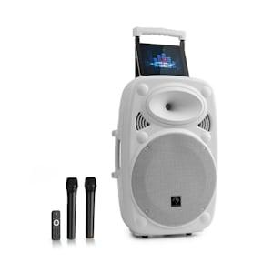 "Streetstar 12 Mobile PA System 12"" (30.5 cm) 2 x UHF Mics 800 W max. White"