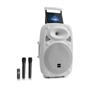 "Streetstar 12 Mobile PA system 12"" (30,5 cm) 1 x microfono UHF 800 W max. bianco"