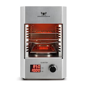 Klarstein Steakreaktor 2.0 -Stainless Steel Edition, grill de interior, 1600 W, 850 ° C