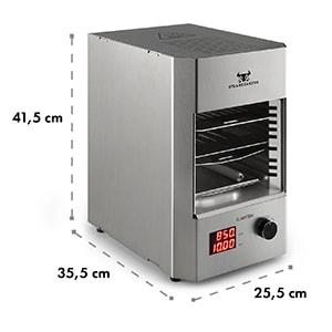Steakreaktor 2.0 - Stainless Steel Edition - Indoor Grill 1600W 850 ° C