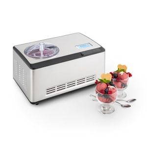 Dolce Bacio, устройство за правене на сладолед, компресор, LCD дисплей, панел с докосване, 2 l, неръждаема стомана