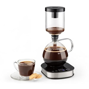 Drop Syphon-Kaffeemaschine Vakuum-Kaffeebereiter 360° Basis LCD Display 500W Glas