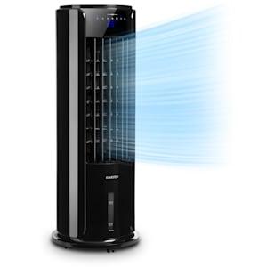 Klarstein Skyscraper Horizon Enfriador de aire y ventilador de 60 W, 486 m³/h Depósito de agua de 3,5L Negro