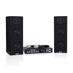 Karaoke Star 4 Karaoke-Set, 2 x 80 W max., BT, USB-Port, 2 x Mikro cavi