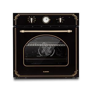 Victoria, vstavaná elektrická rúra, retro vzhľad, 9 funkcií, 50 – 250 °C, čierna