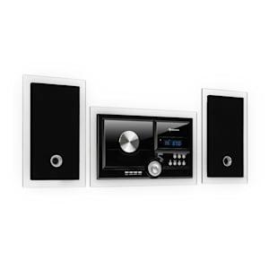 Stereosonic Impianto Stereo, Montaggio a parete, Lettore CD, USB, BT, nero