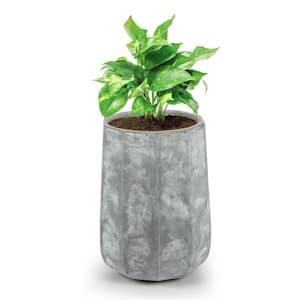 Decaflor tiesto 55 x 70 x 55 cm fibra de vidrio interior/exterior gris claro