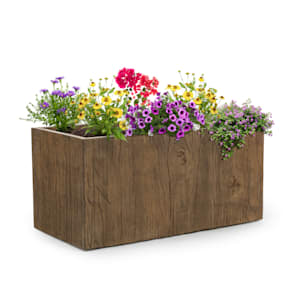 Timberflor Plant Pot 80 x 40 x 40 cm Fiberglass Indoor / Outdoor Brown