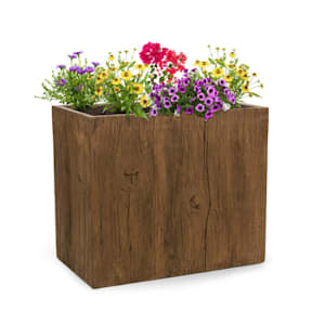 Timberflor Pflanztopf 70 x 60 x 40 cm Fiberglas In-/Outdoor braun