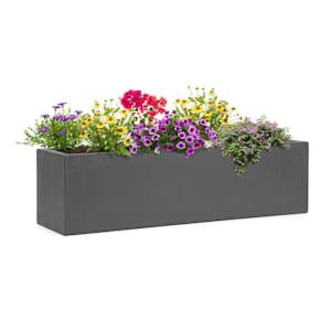 Solidflor Plant Pot 75 x 20 x 20 cm Fiberglass In/Outdoor dark grey
