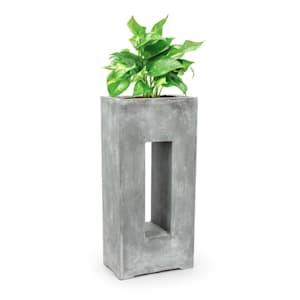 Airflor Plant Pot 45 x 100 x 27 cm Fiberglass In/Outdoor light gray