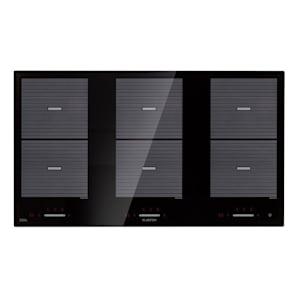 Virtuosa Flex 90 table de cuisson à induction 6 zones 10800W vitrocéramique noire
