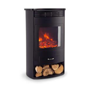 Bormio, elektromos kandalló, 950/1900 W, termosztát, heti időzítő, fekete