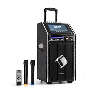 "auna DisGo Box 100 DVD Sistema mobile PA, 300 W max., 9"" TFT-Display, DVD, BT"